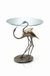 Courting Crane Pair Table