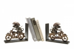 Motorcycling Mouse Bookends