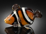 Art Glass Clown Fish Sculpture