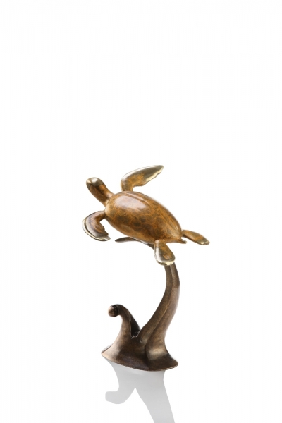 "Single ""Swimming Free"" Sea Turtle Sculpture"