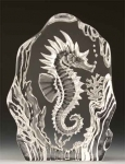 Seahorse Leaded Crystal Sculpture