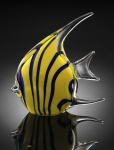 Art Glass Yellow Angel Fish