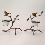 Sparrow Candle Holder - Pair