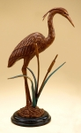 Crane & Cattails Sculpture
