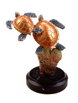 Small Sea Turtle Duo Sculpture