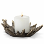 Antler Cupped Pillar Candle Holder