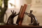 Rabbits Pushing Books Bookends