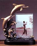 Bronze Coated Resin Dolphin Picture Frame