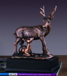 Buck and Fawn Sculpture