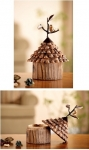 Faux Wood Bird House Box
