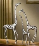 Set of 3 Giraffe Family Sculptures