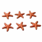 Red Starfish Mini Sculptures - set of 3