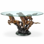Running Horse Trio Coffee Table