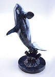 Imperial Killer Whale on Marble Base Statue