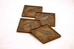 Dragonfly & Leaf Coasters - Set of 4