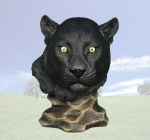 """Stillness"" Panther Head Sculpture"