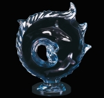"""Orcas Encompassed"" Orca Whales Sculpture"