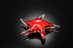 Art Glass Red Starfish Sculpture
