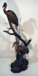 Crane with Reeds Sculpture