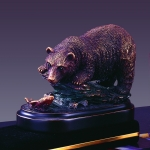 Bear and Fish Sculpture