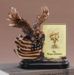 Eagle Picture Frame or Trophy with American Flag