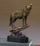 Uphill Wolf Sculpture