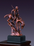 American Indian Riding Horse Sculpture