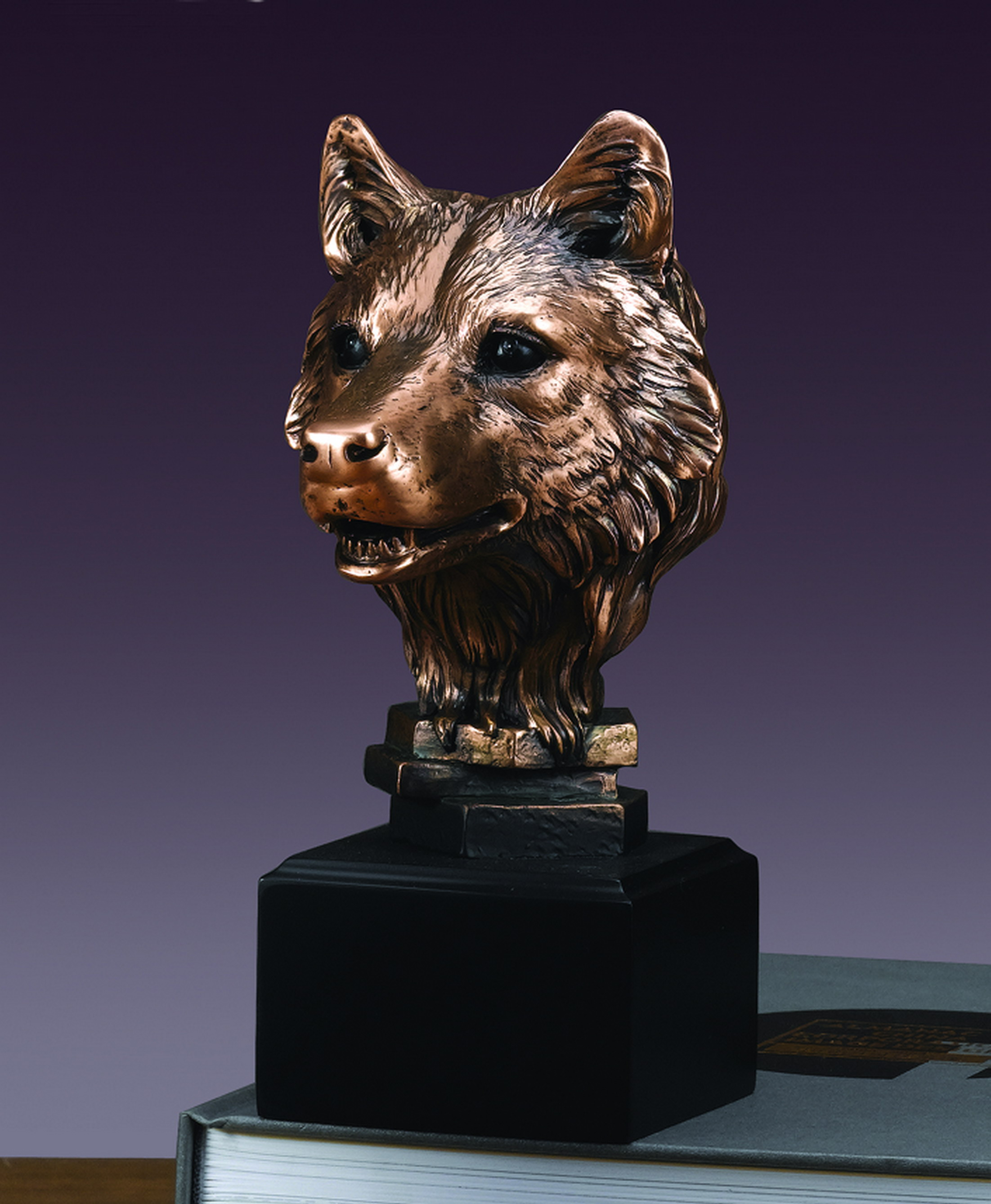 Wolf Head Sculpture