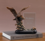Glass Imprint Eagle Trophy