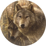 Woodland Wolves Companions Coasters