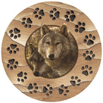 Woodland Wolves Companions & Paws Coasters