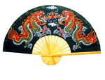 Medium Decorative Twin Dragons Wall Fan