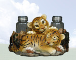 Tiger Cub Salt & Pepper Shaker Holder