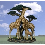 """Triumvirate"" Giraffe Family Sculpture"