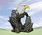 """Proud Seasons"" Eagle Salt & Pepper Holder"