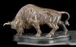 Large Bronze Bull Sculpture