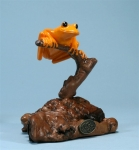 Orange Tree Frog Sculpture