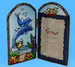 Stained Glass Dolphin Photo Frame