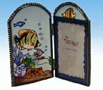 Stained Glass Fish Photo Frame