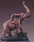 Bronze Plated Elephant Statue