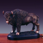 Bronze Plated Buffalo Statue