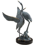 Standing Crane Pair Sculpture
