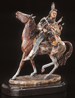 """Visionary"" Chief & Horse Sculpture"