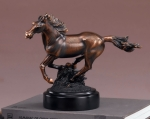Bronze Plated Horse Figurine