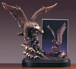 Bronze Coated Eagle Picture Frame or Trophy