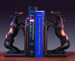 Bronze Coated Horse Bookends