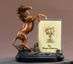 Bronze Plated Horse Photo Frame or Trophy