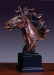 "11"" Horse Head Sculpture"