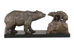 Mama & Baby Bears Statue SOLID BRONZE and MARBLE!