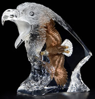 """Journey"" Eagle Lucite Sculpture"
